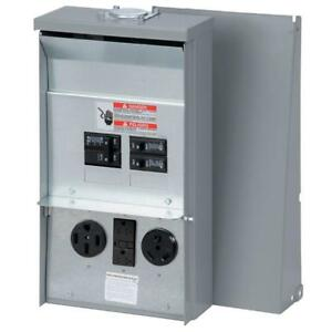 Rv Electrical Power Outlet Panel Box Unmetered Camping Outdoor Accessory New