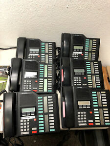 Lot Of 6 Northern Telecom Meridian M7324 Phone Office Telephone