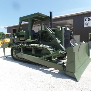 1989 Caterpillar D7g Dozer With Ripper Low Hours New Motor Ex Military