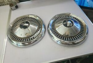 Vintage 1957 Chevy Corvette Black Widow Dog Dish Poverty Hubcaps Wheel Covers