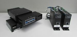 Aerotech 6x8 Stage For Xy Positioning With Two Ats1100 Linear Drives Encoders