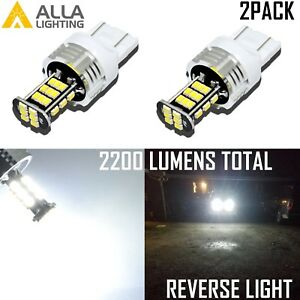 Alla Lighting 7440 30 Led Back Up Reverse Light Backup Lamp Turn Signal White 2x