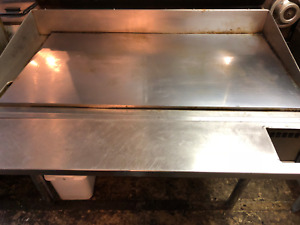 Keating 4 Ft Gas Miraclean Chrome Plated Flat Top Mirror Clean Restaurant Grill