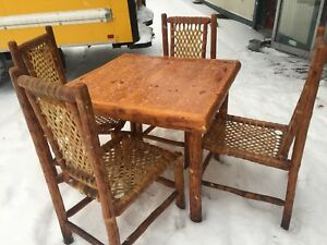 Log Cabin Chairs Table Total 48 Log Chairs Cool Seating Detroit Restaurant