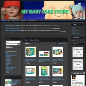 Baby Store Make With This Online Affiliate Website Free Domain