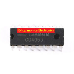 10pcs Original Cd4053 3 Groups 2 Analog Switches Dip 16 Electronic Components