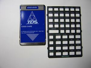 Tds Cogo Card Overlay For The Hp 48gx sx Calculator