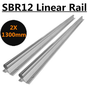 Us Stock 12mm Br12 1300mm Fully Supported Slide Guide Shaft Rod For Cnc 2pcs