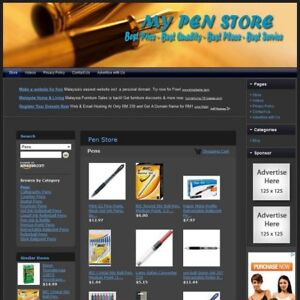 Pen Store Fully Functional Website Highly Profitable Internet Home Business