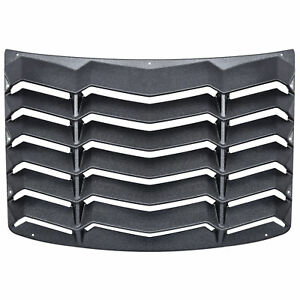 For 2016 2019 Chevrolet Camaro Rear Window Louver Sun Shade Cover Black