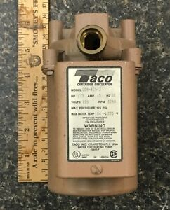 Taco Hot Water Circulator Pump