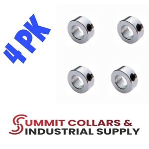 1 2 Bore Set Shaft Collar Zinc Plated qty 4