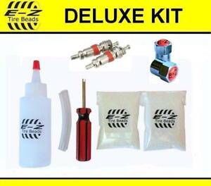 E Z Tire Beads Motorcycle Balance Deluxe Kit Ceramic 1 2 Oz 3 Total Chrome Caps
