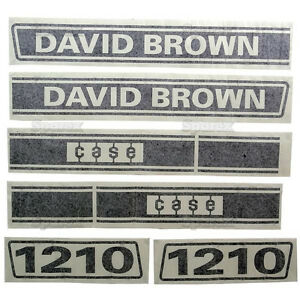 New David Brown 1210 Selectamatic Hood Decal Set