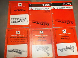 Allis Chalmers Plows Chisel Plows And Disk Operators Manual Lot Of 6