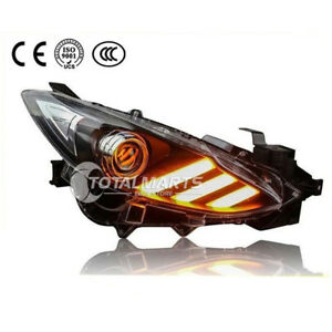 For 2013 2014 2015 2016 Mazda 3 Axela Hid Headlights With Bi xenon Projector Led