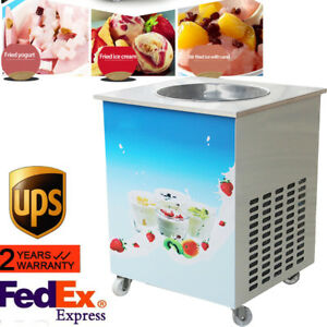 Cool Summer Fried Ice Cream Roll Machine Commercial Fried Milk Yogurt Maker Fda