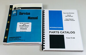 International Td 24 Pay Line 241 Series Crawler Tractor Service Parts Manual Set