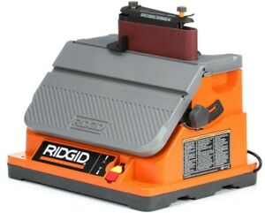 Ridgid Belt Spindle Sander 5 Amp Motor Lock On Switch Sawdust Collection Port