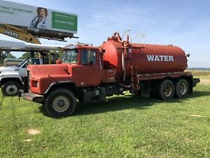 1995 Mack Dm690s Self Loading Vacuum Water Tank Truck Oil Gas Mining Gravel Sand