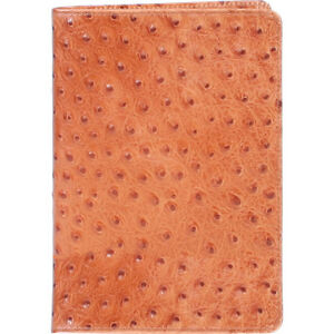 Scully Ostrich Embossed Leather Desk Journal Blank Business Accessorie New
