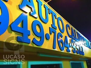 Business Custom Signs Letters 12 Foam And Acrylic Outdoor Front Store