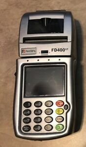 First Data Fd 400 Gt Wireless Credit Card Terminal No Power Cord Untested