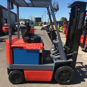 Toyota 30 5fbc18 3500lb Electric Ee Rated Forklift Lifttruck