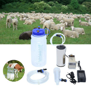 2l Electric Barrel Goats Portable Milking Machine Vacuum Pump Milker Tank Tool