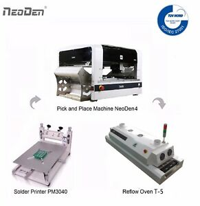 Smt Line Stable Pick And Place Machine Neoden4 2 Cameras Smart Feeders Smd Bga