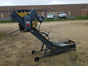 Hytrol Machinery Conveyor W cleated Belt 5 5 Tall
