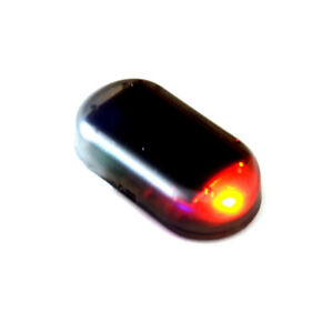 Car Solar Energy Powered Led Alarm Warning Light Anti Theft Flashing Red Lamp