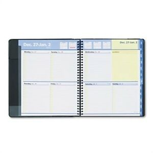 Quicknotes Recycled Weekly monthly Appointment Book 8 X 9 7 8 Black 2014