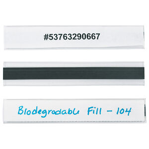 Hol dex Magnetic Plastic Label Holders 1 X 6 Clear 12 case Lh114