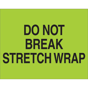 Tape Logic Labels do Not Break Stretch Wrap 8 X 10 Fluorescent Green 250 rol