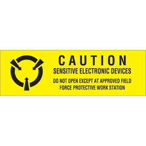 Tape Logic Labels sensitive Electronic Devices 5 8 X 2 Black yellow 500 roll