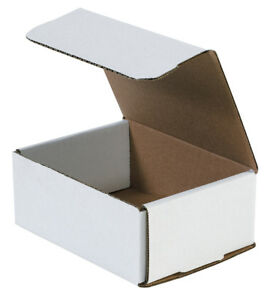 Box Partners Corrugated Mailers 4 X 4 X 4 White 50 bundle M444