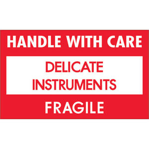 Tape Logic Labels delicate Instruments Hwc 3 X 5 Red white black 500 roll