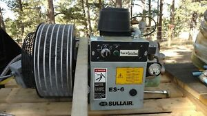 7 5 Hp Sullair Encapsulated Rotary Screw Air Compressor Model Es 6
