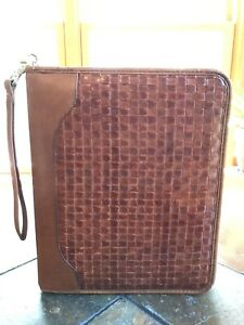 Vintage Classic Cognac Franklin Covey Quest Planner Leather 11x9 Usa