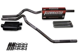 Chevy Gmc Ck1500 Ck2500 88 95 2 5 Dual Exhaust Kit Flowmaster 40 Weld On Tips