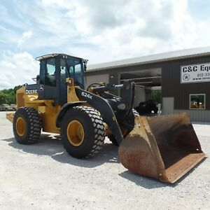 2012 John Deere 624k Wheel Loader Wheel Loaders Low Hours Nice New Tires