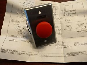 703rd Locknetics Red Push Button On Stainless Plate Access Control