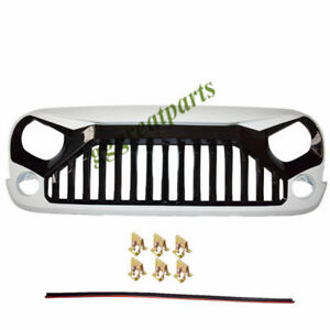 Black White Angry Bird Ii Front Grill Grille For 07 17 Jk Jeep Wrangler