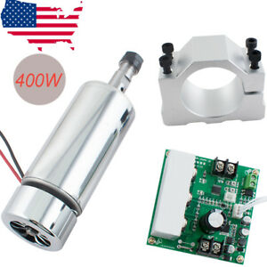Cnc Spindle Motor 400w Er11 mach3 Pwm Speed Controller mount Engraving Kit Top