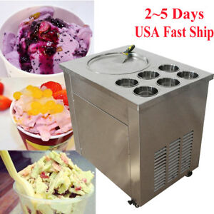 Thai Fried Ice Cream Machine Roll Ice Cream Making Machine local Warehouse