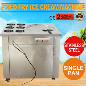 Thai Fried Ice Cream Machine With Double Pans ice Cream Roll Maker local Stock