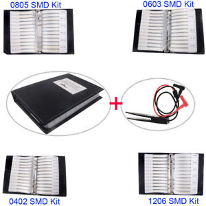 0805 0603 0402 1206 Smd Capacitor Resistor Assortment Kit Sample Book Clip