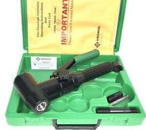 Greenlee 7904sb 7904e Quick Draw 90 Hydraulic Punch Driver Kit W Metric Case