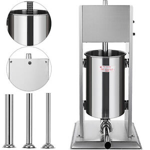 3l Vertical Commercial Sausage Stuffer Two Speed Stainless Steel Meat Press